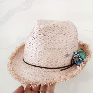 Gian Marco Venturi Woven Straw Fedora Hat